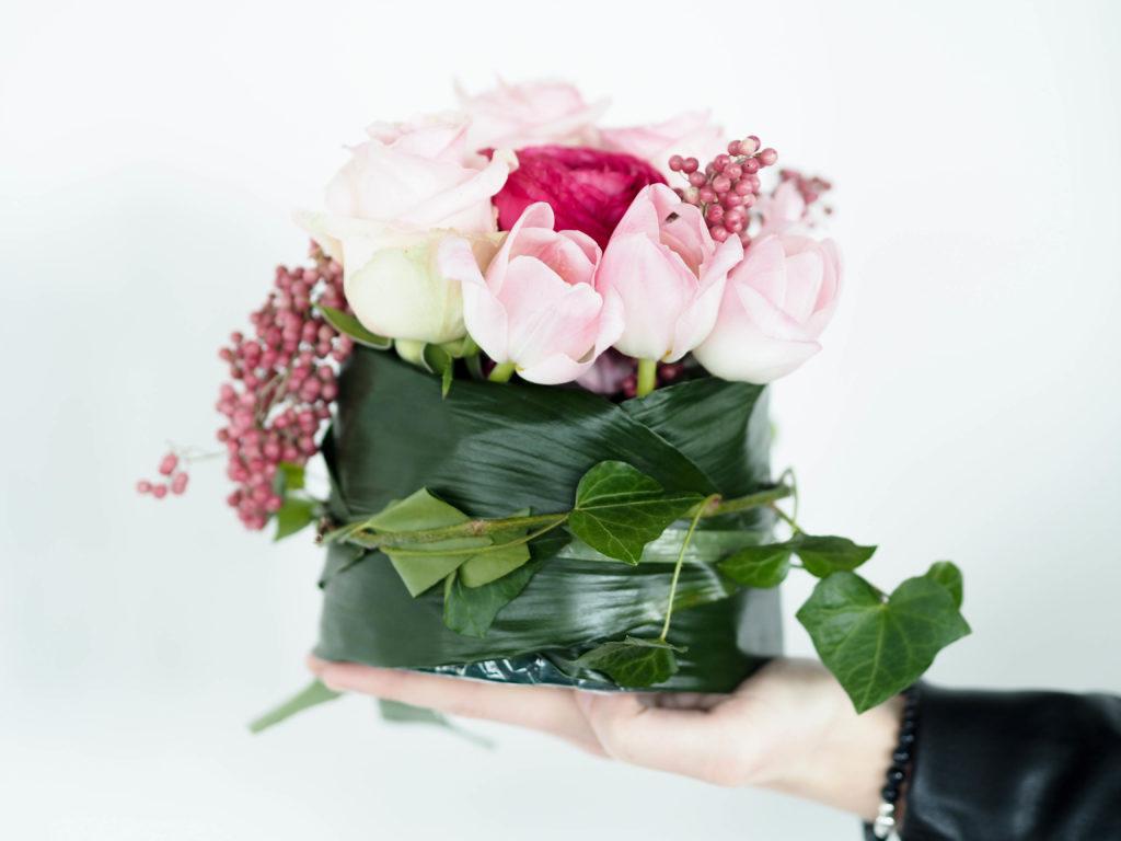 selbstgemachter Blumenkranz