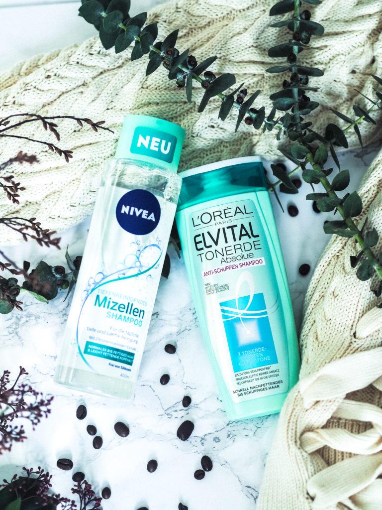 Meine liebsten Pflegeprodukte: L'oreal Elvital Tonerde Absolue und Nivea Mizellen Shampoo