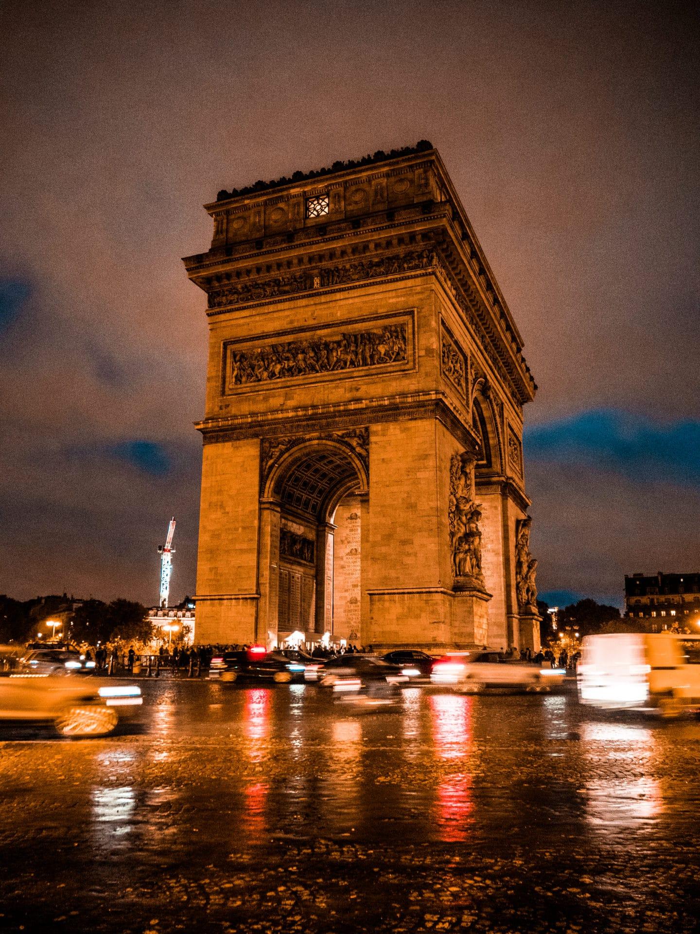 Arc de Triomphe del'Étoile Paris Reisetipps